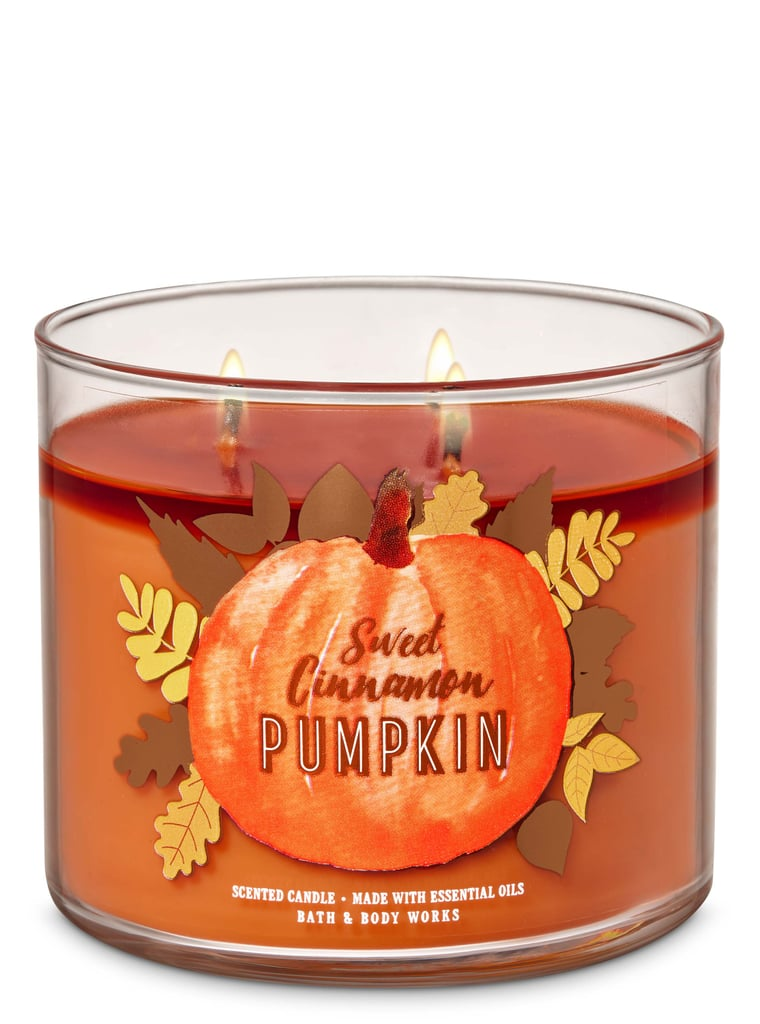 Bath and Body Works Sweet Cinnamon Pumpkin 3-Wick Candle