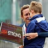 Kristin Armstrong Hugs Son After Winning Third Gold Medal