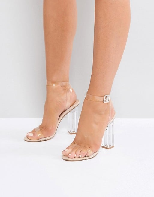 9bd35e4fd3d Public Desire Alia Clear Perspex Heeled Sandals   Lucite Heels ...