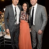 Dax Shepard, Olivia Munn, and Aaron Rodgers
