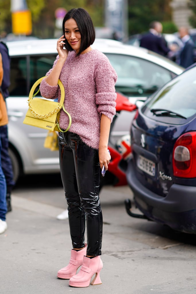 Complete with funky-shaped shoes and compliment-inviting brights.