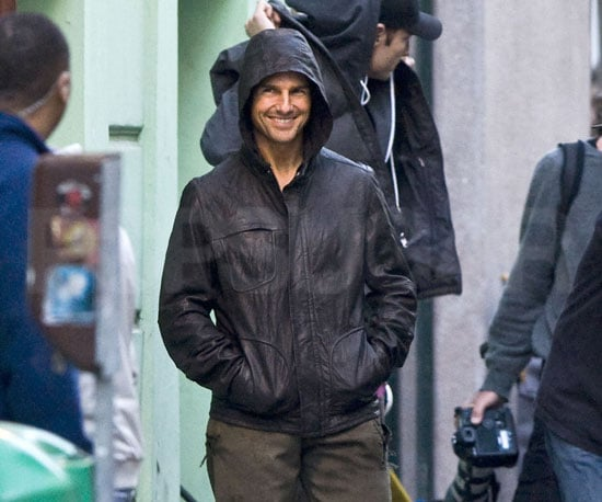 Slide Picture of Tom Cruise on Set in Prague