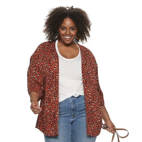 EVRI Plus Size Kimono Jacket