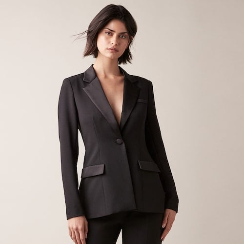 Jw Jason Wu Tuxedo Jacket Selena Gomez Means Business In This Sexy Black Suit Popsugar