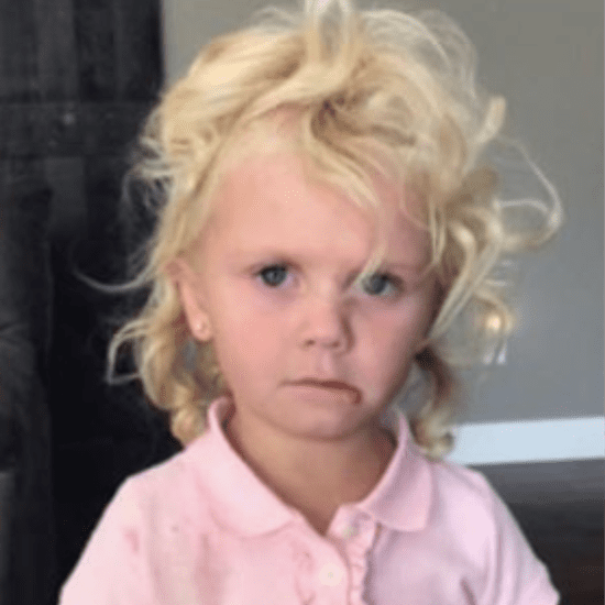 Little Girl's Before-and-After First Day of School Photos