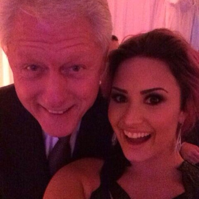 "Demi Lovato looked starstruck when she posed for a snap with former President Bill Clinton at the Unite4:Humanity Gala in February 2014. ""Too excited to filter this... NO BIG DEAL - #Selfieswiththeprez.... Bill Clinton - so nice to meet you!!!!"" she wrote in the caption."