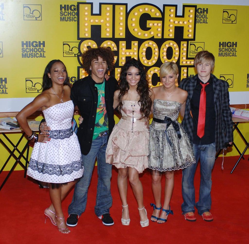 Monique Coleman, Corbin Bleu, Vanessa Hudgens, Ashley Tisdale, and Lucas Grabeel at the 2006 High School Musical UK Premiere