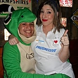 Geico Gecko and Flo From Progressive Insurance