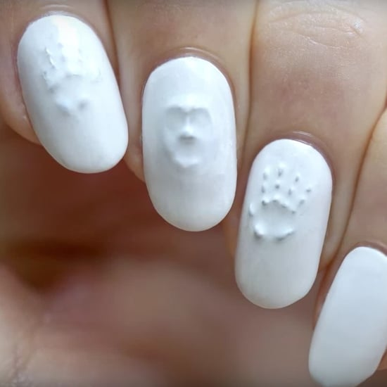 3D Ghost Halloween Nail Art