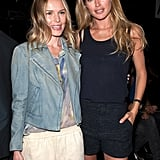 Kate Bosworth and Doutzen Kroes hugged it out backstage.