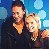 Megan Gale joined Fifi Box for an afternoon of radio co-hosting duties. Source: Instagram user megankgale