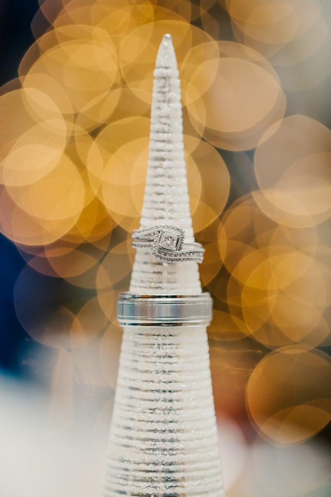 White Christmas Tree Ring Holder