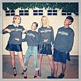 "Nicole Richie and her crew sported matching ""Mrs. Carter"" sweatshirts before heading to Beyoncé's concert in LA. Source: Instagram user nicolerichie"