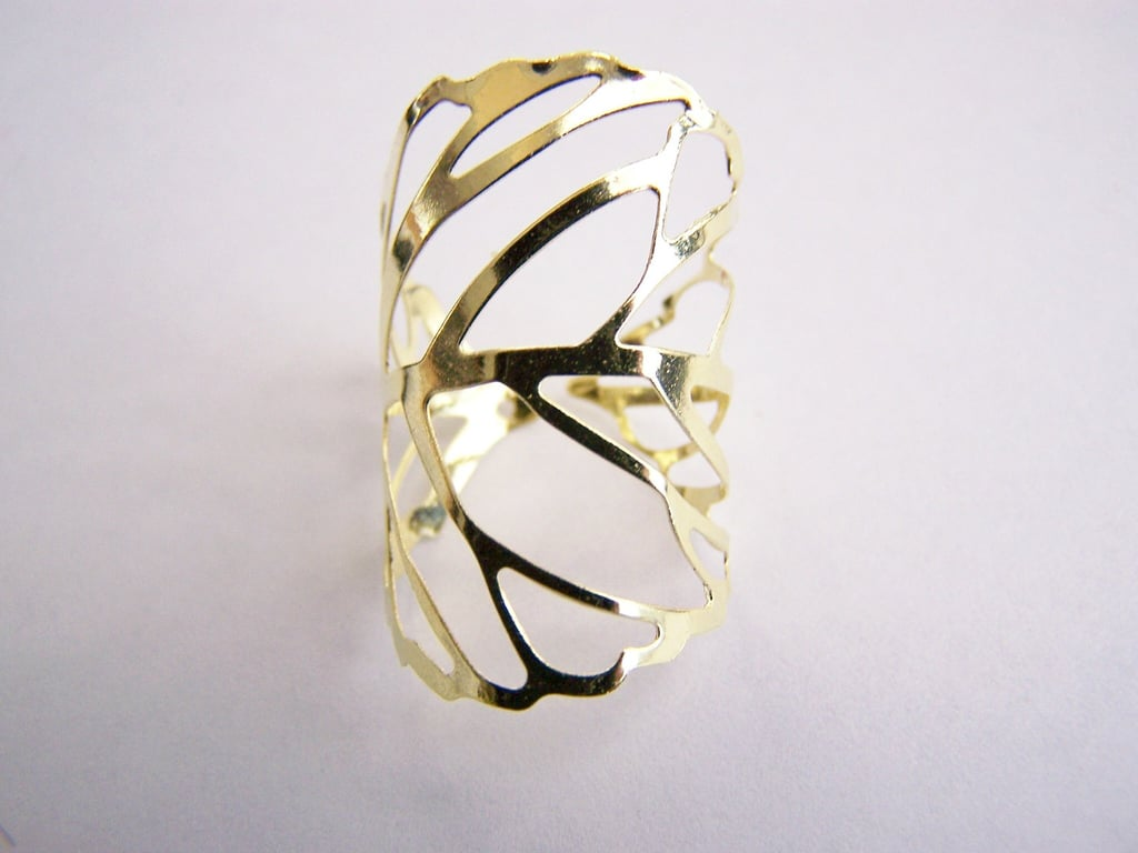 Adjustable Leaf Skeleton Ring ($0.20)