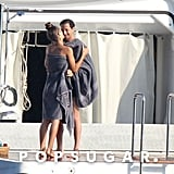 Adrien Brody basked under the sun on a yacht docked in the South of France in July with his girlfriend.