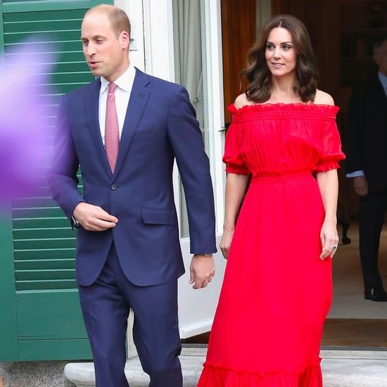 Duchess of Cambridge Red Alexander McQueen Maxi Dress