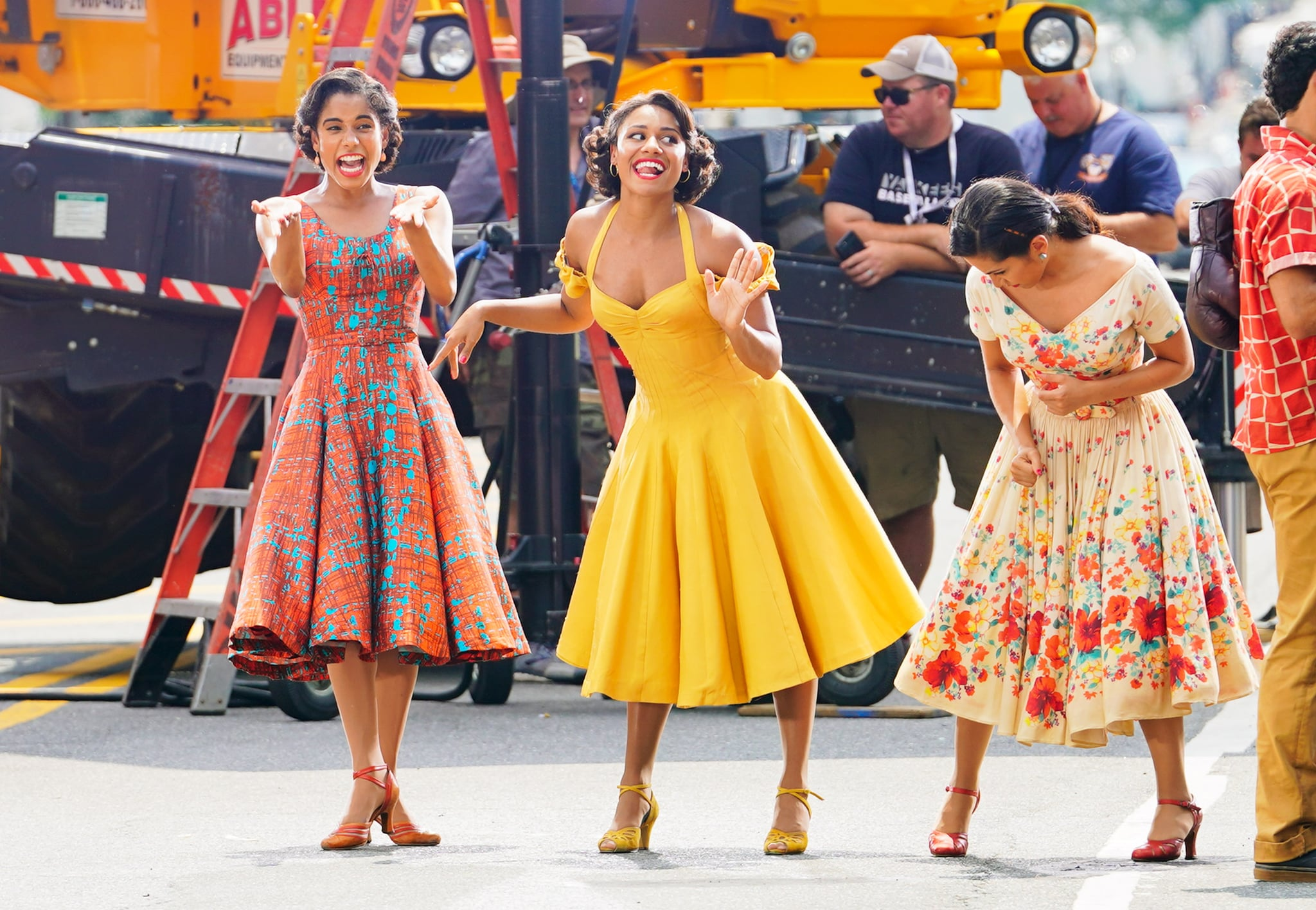 NEW YORK, NY - JULY 27:  Ariana DeBose and David Alvarez on the set of 'West Side Story' on July 27, 2019 in New York City.  (Photo by Gotham/GC Images)