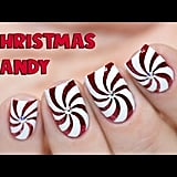 Paulina's Passions Christmas Candy Cane Nails Tutorial