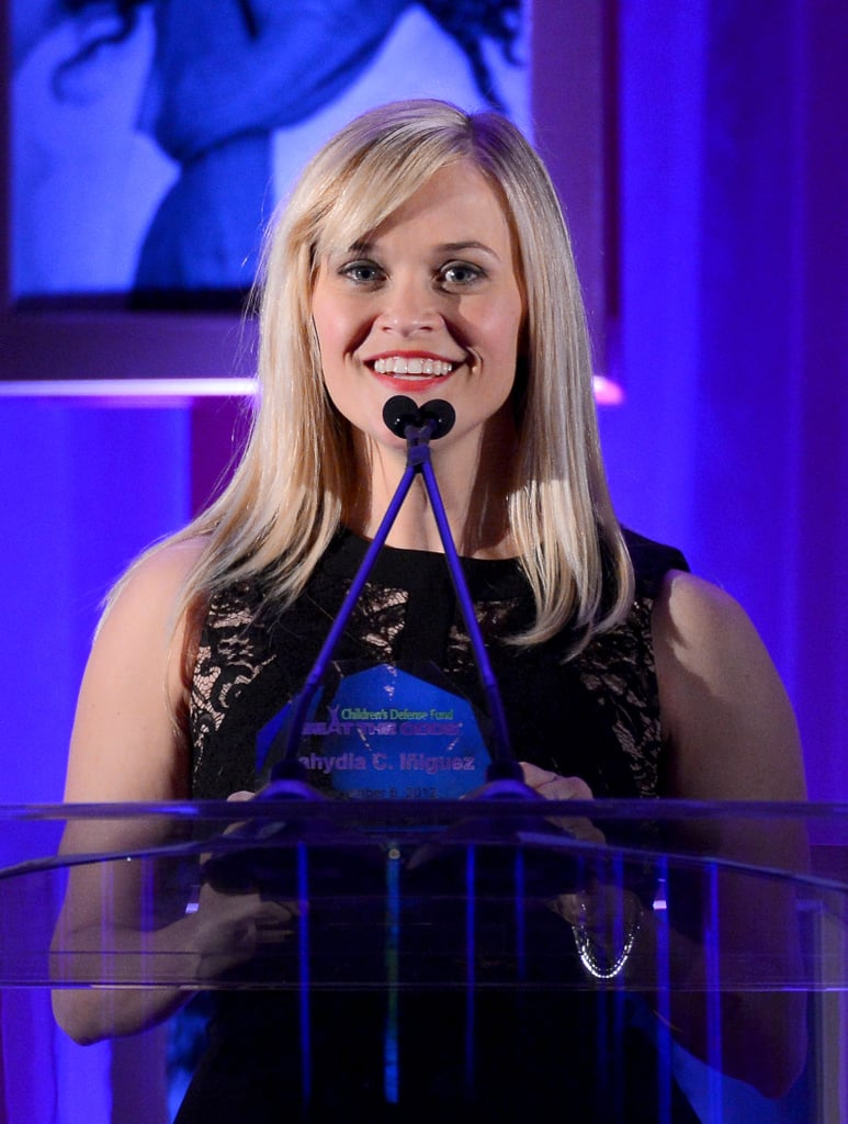 Reese Witherspoon was on stage at the Children's Defense Fund Beat the Odds Awards in Beverly Hills.