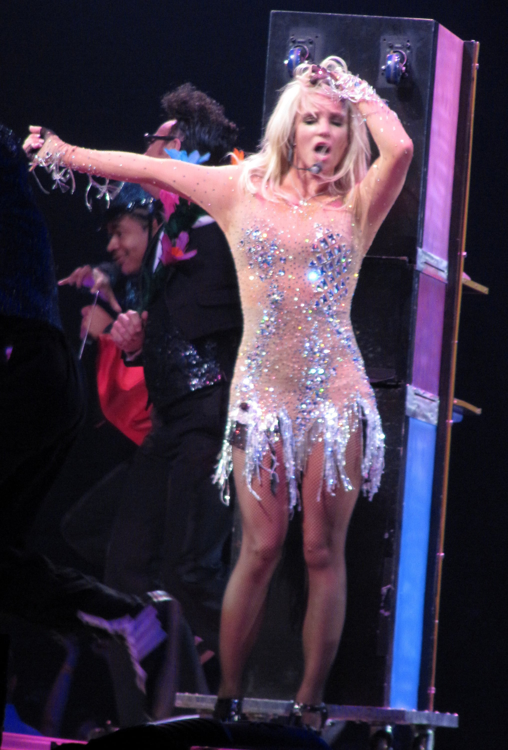 Britney spears crying circus tour celebrity