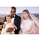 North was all dolled up at her parents' wedding in Italy in May 2014.