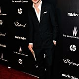 Jeremy Irvine at the Weinstein Company's Golden Globes after party.