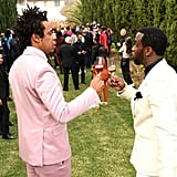 JAY-Z and Diddy at the 2020 Roc Nation Brunch in LA
