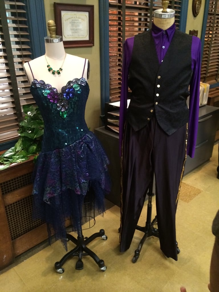 Remember the season finale? Here are Santiago's and Peralta's thrift-shop outfits for the dance competition. So much sparkle.