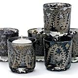 Charcoal Votive Candleholders ($79)