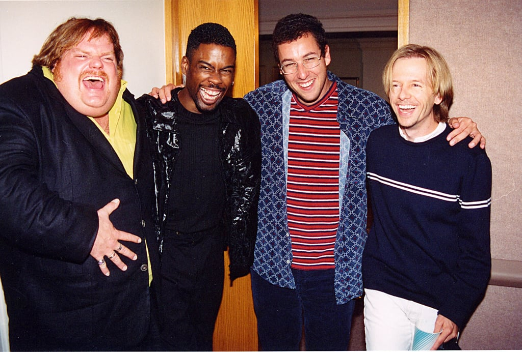 Adam Sandler and Chris Farley hung with the SNL crowd.