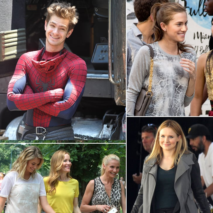 Andrew Garfield, Kristen Bell, Cameron Diaz, and More Stars on Set