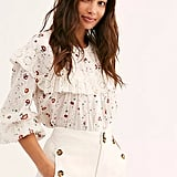 Falling For You Printed Blouse