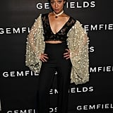 Ruth wore an edgy Rodarte ensemble at Gemfields' celebration of Ruth and her stylist Karla Welch.