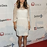 Natalie Portman was angelic in white Christian Dior. The sheer detail is so pretty.