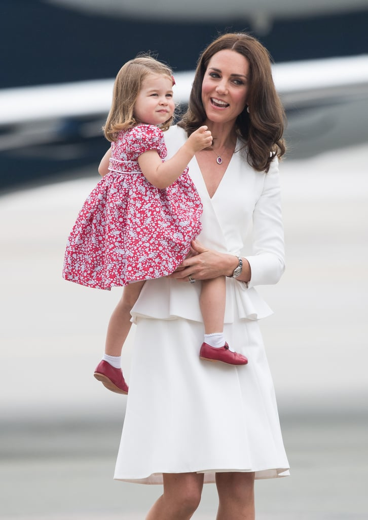 Princess Charlotte Wearing Red Shoes