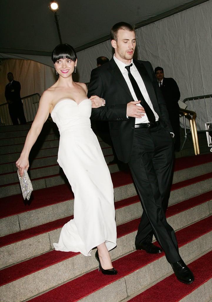 Christina Ricci and Chris Evans