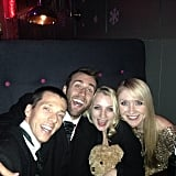Another shot from that night shows Lewis with Evanna Lynch, aka Luna Lovegood.