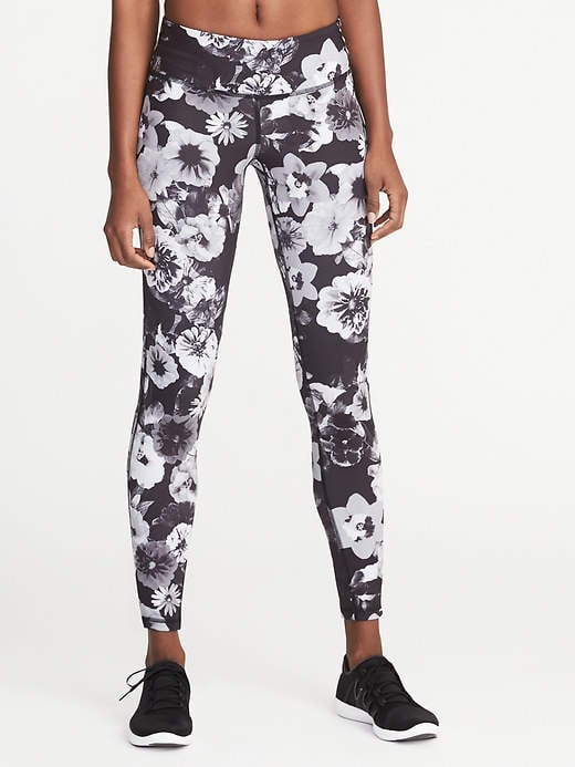 Old Navy Mid-Rise Floral-Print Compression Leggings