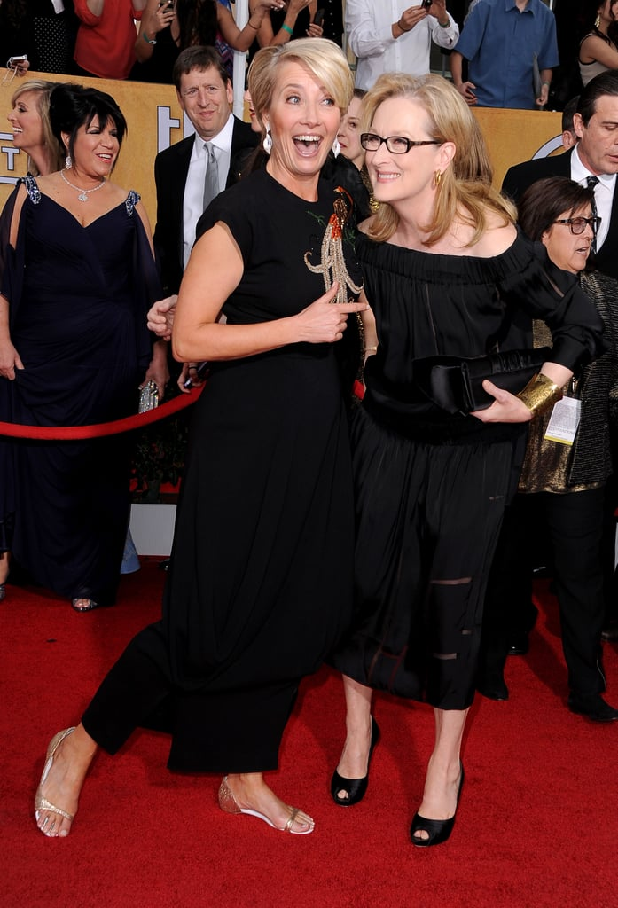 Emma Thompson and Meryl Streep shared a silly moment.