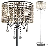 Hsyile Lighting KU300153 Elegant Designs Crystal Floor Lamp