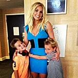 """Getting ready with my baby boys to head to the #Smurfs2 Premiere. They are bouncing off the walls :),"" she captioned this picture in July 2013."