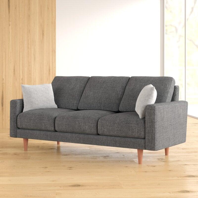 Stoughton Velvet Square Arm Sofa