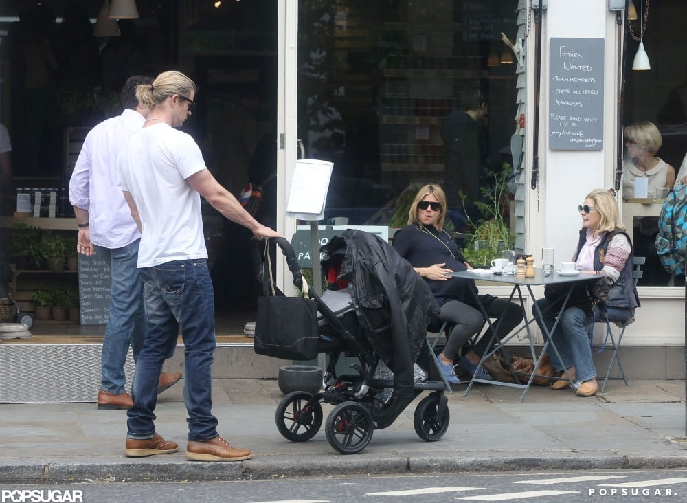 Chris Hemsworth bumped into Sienna Miller in London.