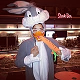 Glee's Harry Shum mixed Bugs Bunny and Daffy Duck for his costume.  Source: Instagram user harryshum