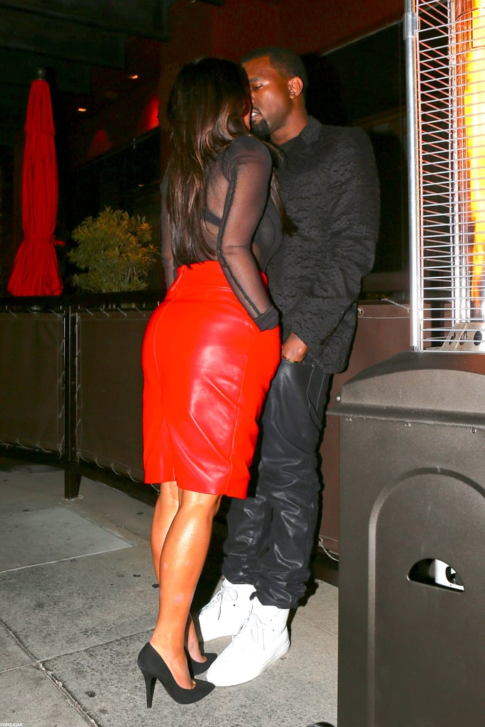 In November, Kim Kardashian and Kanye West weren't shy about displaying PDA outside of Beverly Hills.