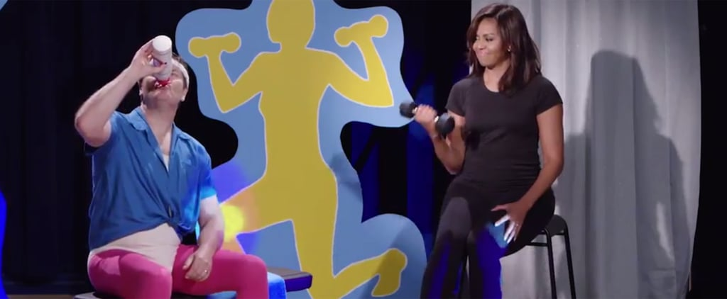 Funny or Die History of Exercise Video With Michelle Obama