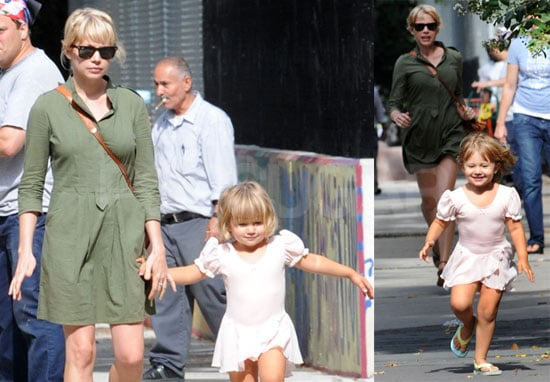 Photos of Michelle Williams and Matilda Ledger