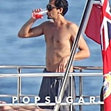 Adrien Brody Shirtless Kissing Girlfriend in France Pictures