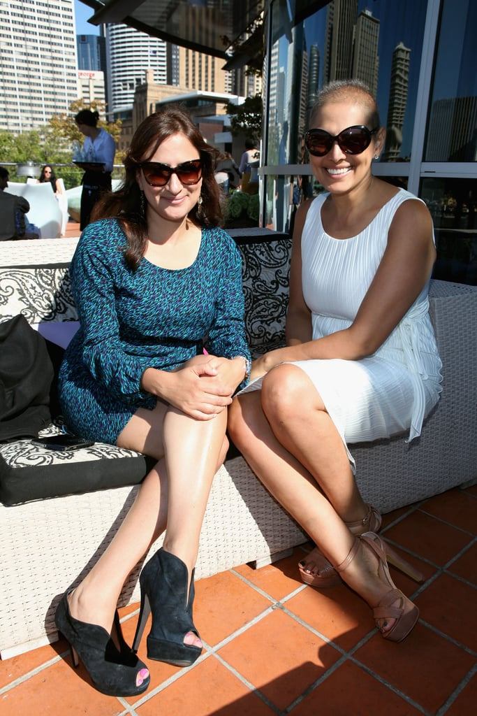 Sally Obermeder and her Sister around MBFWA