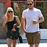 Chris Pratt and Anna Faris were all smiles in LA when they went to Monday lunch together.